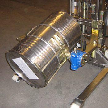 Stainless steel drum turner